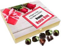 Chocholik Rose Day Gift Box - A Rose To Say That You Mean A Lot To Me Chocolate Box - 20pc Truffles